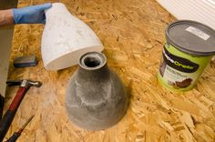Remove the cement from the mold