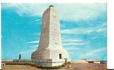 Wright Memorial, Kitty Hawk, NC - Commemorating first flight achievements of Wilbur & Orville Wright, Dec. 17, 1903, circa 1960s