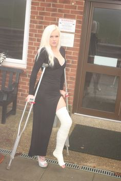 Embedded Long Leg Cast, Crutches, Asdf, Long Legs, It Cast, Sporty, Places, Hot, Style
