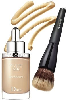 How to get great skin, here are 15 beauty products to shop now: Diorskin Nude Air Serum Ultra-Fluid Serum Foundation, BareMinerals Complexion Rescue Tinted Hydrating Gel Cream and BareMinerals Smoothing Face Brush. Kiss Makeup, Love Makeup, Hair Makeup, All Things Beauty, Beauty Make Up, Beauty Secrets, Beauty Hacks, Beauty Products, Beauty Tips