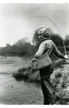 Doris MacLaughlin Sport Fishing, Nova Scotia, ca. Fly Fishing Girls, Sport Fishing, Gone Fishing, Fishing Life, Sea Fishing, Fishing Stuff, Trout Fishing Tips, Walleye Fishing, Salmon Fishing
