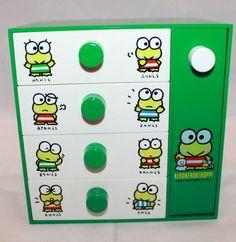 "Sanrio Kero Kero Keroppi Kawaii Nylon Backpack 12/"" for Toddler// Kids Color Green"
