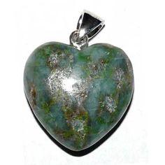 Herz Anhänger 2 cm Smaragdit-Saussurit-Gabbro Schweiz - Schweizer-Steine - Cleopatra's Duft-Oase