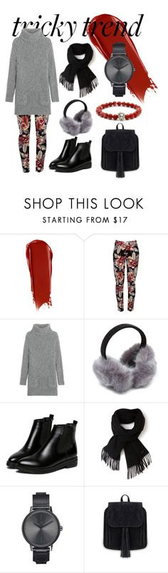"""""""Tricky Trend"""" by reemarie on Polyvore featuring NARS Cosmetics, TSE, WithChic, Lacoste, Nixon, floralprint, contestentry, winterstyle and dressandpants"""