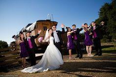 Ardenwood Historic Farm Bridal Party photo at Train Station