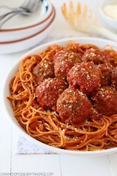 Mama's Best Ever Spaghetti and Mozzarella Meatballs