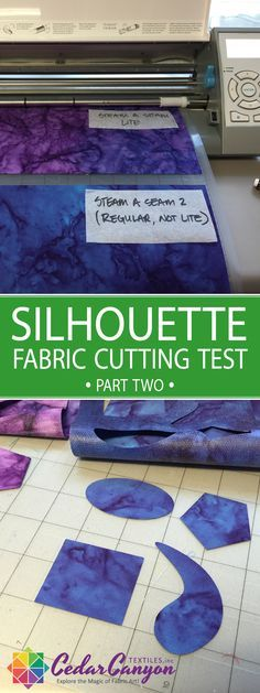 Cutting fabric with a Silhouette Cameo is super simple when you stabilize your fabric with fusible web!