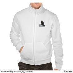 Black Wolf Men's Jackets. Sturdy and durable, the California fleece zip jogger by American Apparel provides comfort and warmth. Extra thick and breathable, the jogger can be worn for any outdoor activity. Available in multiple colors. Designed by Johanna Lerwick - Wildlife/Nature Artist.