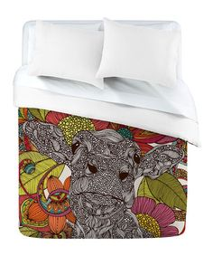 Take a look at this DENY Designs Arabella and the Flowers Duvet Cover by DENY Designs on #zulily today!