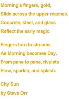City Sun (a poem by Steve Orr)