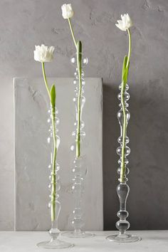 Bulle Glass Tapered Vase
