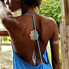 Flash Tattoos Tatouages éphémères Dorés Au Henné Sheebani