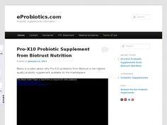 eProbiotics.com is a new probiotics supplement website