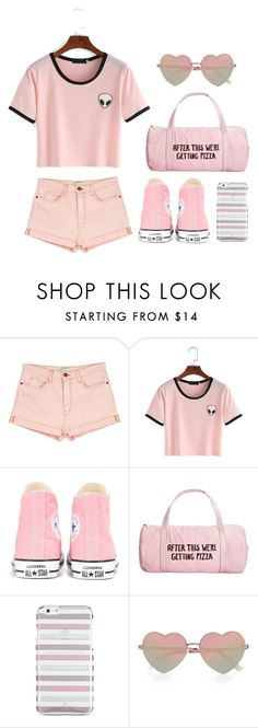 """""""Untitled #482"""" by snowflake-city ❤ liked on Polyvore featuring Current/Elliott, Converse, ban.do, Kate Spade and River Island"""