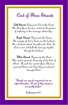 Cord of Three Strands Poem | ... cord of 3 strands explanation cards # gkec god s knot cord of 3
