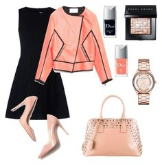 Geometry by kamiren on Polyvore featuring мода, RED Valentino, Cédric Charlier, Prada, Marc by Marc Jacobs, Bobbi Brown Cosmetics and Christian Dior