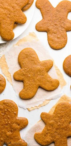 The Ultimate Healthy Gingerbread Cookies | Amy's Healthy Baking Healthy Gingerbread Cookies, Healthy Cookies, Healthy Sweets, Healthy Dessert Recipes, Healthy Baking, Gingerbread Men, Vegetarian Snacks, Healthy Snacks, Chocolate Avocado Brownies