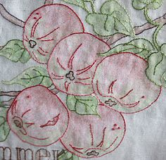 Learn how to color and embroidery together.