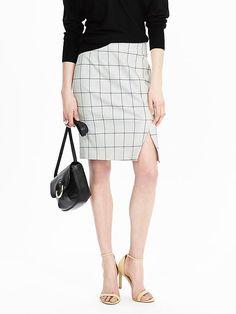 Windowpane Pencil Skirt, BR | 4/2016