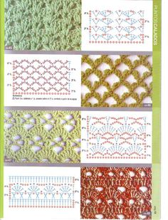 View album on Yandex. Crochet Stitches Chart, Knitting Stiches, Crochet Diagram, Crochet Basics, Knitting Patterns, Crochet Patterns, Lace Patterns, Stitch Patterns, Crochet Hooks