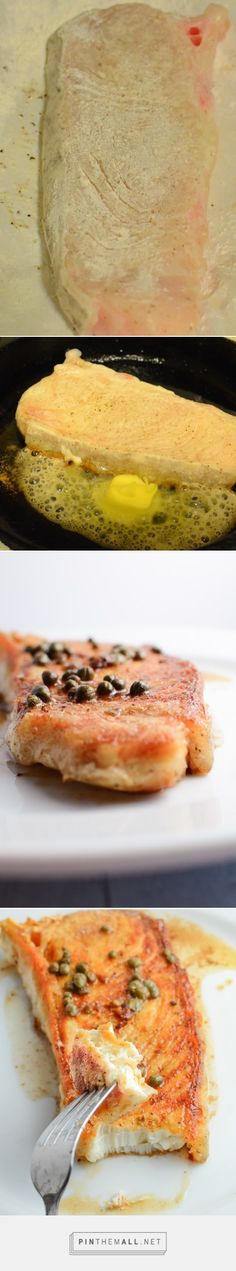 Step by step guide to making fish (halibut) in brown butter sauce with a caper sauce