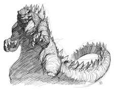 Godzilla_by_EJ_Su_Toho-Test-Sketch.jpg (900×675)