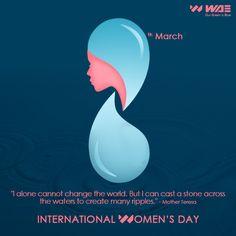 International Women's Day on Behance Mother Teresa, Ladies Day, Change The World, It Cast, Behance, Photoshop, Creative