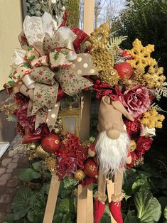 Christmas Wreaths for Front Door, Nordic Gnome, Rustic Holiday Decor, Christmas Wreaths For Front Door, Holiday Wreaths, Door Wreaths, Etsy Christmas, Christmas Holidays, Seasonal Decor, Holiday Decor, Rustic Style, Porch