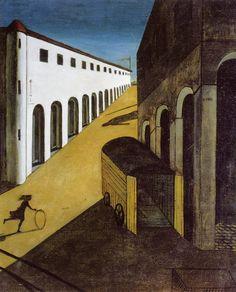 """Giorgio De Chirico, """"Mystery and Melancholy of a Street"""", 1914"""