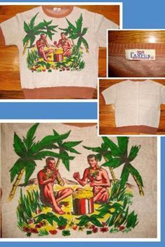 """""""Iconic"""" sweaters from the Vintage Tees, Vintage Prints, Vintage Man, Novelty Fabric, Novelty Print, Vintage Outfits, Vintage Fashion, 1940s Fashion, Vintage Clothing"""