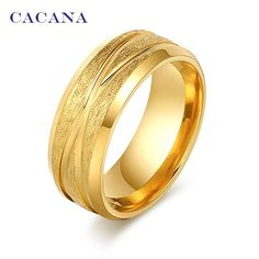Gold Plated Stainless Steel Fashion Ring
