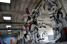 """""""Medusa"""" - 3d graffiti in Torino seen only from a certain viewpoint painted by Ninja1 and Mach505 (2)"""