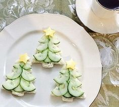 Cream cheese and cucumber sandwiches Cream cheese and cucumber sandwiches - . - Cream cheese and cucumber sandwiches Cream cheese and cucumber sandwiches – # Crea - Christmas Tea Party, Christmas Snacks, Xmas Food, Christmas Cooking, Christmas Appetizers, Christmas Trees, Christmas Afternoon Tea, Christmas Tree Food, Holiday Parties