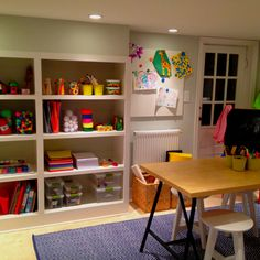 Kids arts & crafts room