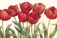 Ruby Tulips Art Print at AllPosters.com