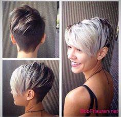 asymmetrische kurze haare #hair #hairstyles #frisuren