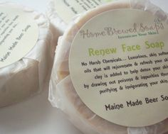 Renew Facial Beer Soap is great for washing your face anytime to remove inpurities and tighten and tone your skin.... I have added clay to this face soap for its many known benefits... clay is known to help detox your skin by drawing out poisions , bacteria and impurities thus deeply purifying & invigorating your skin... I have used citrus essential oils of grapefruit & orange which are known to help with acne and wrinkles... I have also used peppermint essential oil which is also known to…
