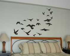 PEGATINA VINILO DECORATIVO PARED ORIGINAL - PAJAROS
