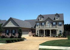 This southern traditional home plan has nine foot ceilings throughout the main floor.