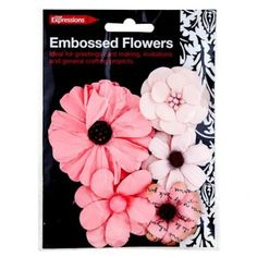 Embossed Flowers 5 Pack - Materials & Equipment - Arts & Crafts - Stationery & Crafts