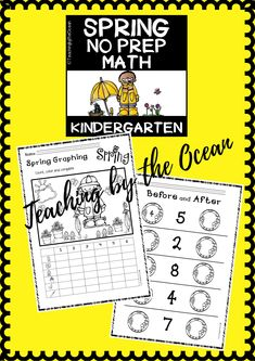 Spring Math NO PREP (kindergarten) - Distance Learning Learning Resources, Fun Learning, Teacher Resources, Middle School English, Teaching Kindergarten, Creative Teaching, Common Core Standards, Math Lessons, Math Centers