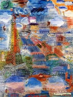 Paris Artwork by Raoul Dufy Hand-painted and Art Prints on canvas for sale,you can custom the size and frame