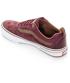 Vans Kyle Walker Pro Red and Brown Skate Shoes