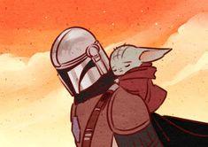 The Mandalorian and The Child aka Baby Yoda (Star Wars) Star Wars Fan Art, Star Wars Meme, Wanderlust Tattoo, Image Film, Pinterest Instagram, Love Stars, Clone Wars, Sketches, Drawings