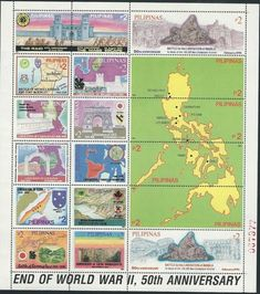 Stamp: End of World War II - 50th Anniversary (Philippines) (End of World War II - 50th Anniversary) Mi:PH BL93
