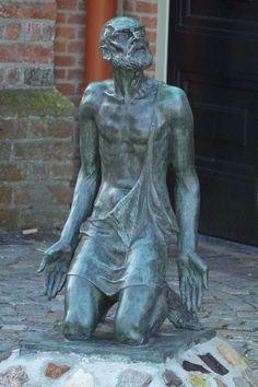 Job Talks to God Date:20th century? Building:St. Jeroenskerk Object/Function:Sculpture, freestanding City/Town:Noordwijk Country:Netherlands