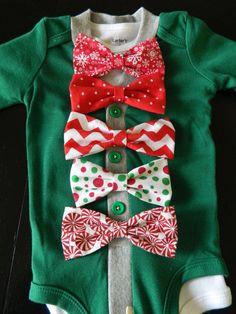 Baby Boy Cardigan Onesie Bodysuit  Green Red by Lifelizziestyle, $30.00