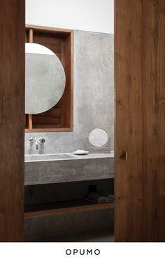Resort Villa in Sri Lanka by Norm Architects & AIM Architecture – Design. Modern Bathroom, Master Bathroom, Bathroom Interior, Small Bathroom, Resorts In Sri Lanka, Polished Cement, Home Design, Interior Design, Design Ideas