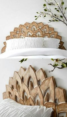 unglaublich 33 Best Bed Headboards for Your Out-of-the-Box Bed - Bett ideen Decoration Bedroom, Diy Home Decor, Flower Decoration, Decor Room, Box Bed, Headboards For Beds, Headboard Ideas, Faux Headboard, White Headboard