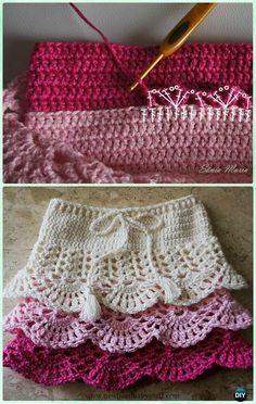 Crochet Baby Dress Crochet Layered Shell Stitch Skirt Free Pattern - Cro...